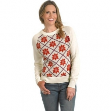 Women's Poinsettia Holiday Sweater in State College, PA