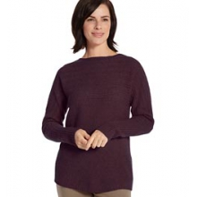 Beacon Pull-Over Wool Sweater - Women's - Dark Mulberry In Size: Extra Small by Woolrich