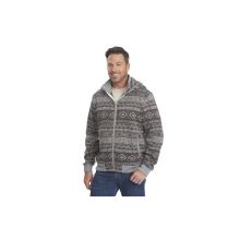 Mens Snow Depth Fleece Hoodie - Sale Nickel XL by Woolrich