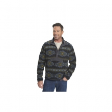 Mens Trail Blazing Fleece Pullover - Closeout Coal by Woolrich
