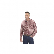 Mens Miners Wash Plaid Flannel Shirt - Closeout Oxblood Check by Woolrich