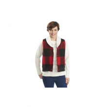 Womens Giant Buffalo Wool Vest - Closeout Old Red Medium by Woolrich