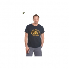 Mens Hayes Run Graphic Tee Cotton Tee USA Made Navy by Woolrich