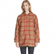 Women's Window Pane Cocoon Coat