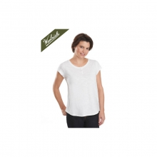 Womens Elemental Henley Tee White Small by Woolrich