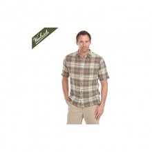 Mens Chill Out Pucker Plaid Short Sleeve Shirt Field Gray by Woolrich