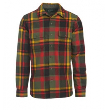 Bering Wool Shirt - Men's - Black Multi Plaid In Size by Woolrich