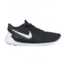Free 5.0 Running Shoe - Women's-Black/Black-6