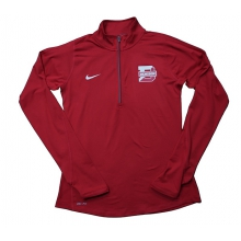 Denison Womens  1/2 Zip Element Red/ White