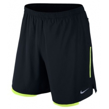 Nike Phenom 2-in-1 7in Shorts - Men's-Black-S