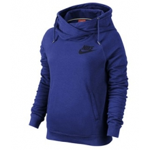 Nike Rally Funnel Neck Hoodie - Women's-Tobago Blue-M