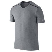 Nike Tailwind V-neck Shirt - Men's-Anthracite/Black-M by Nike