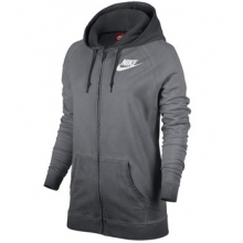 Nike Boyfriend Full Zip Hoody - Women's-Charcoal-M