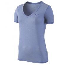 Nike Stripe V-neck Shirt - Women's-Wolf Grey-S