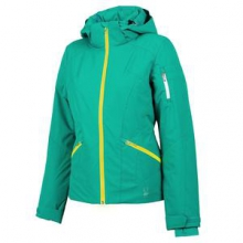 Project Insulated Ski Jacket Women's, Robins Egg/Bryte Yellow, 12 by Spyder