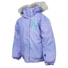 Bitsy Lola Ski Jacket Little Girls', Pure Honeycomb Print/Splash, 3