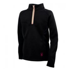Valor 1/2 Zip Mid Weight Core Sweater - Girls - Black In Size: Large