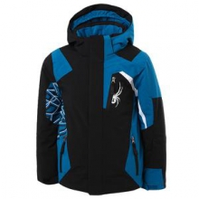 Challenger Ski Jacket Boys', Black/Concept Blue/White, 14