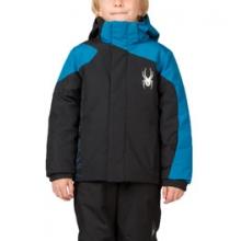 Mini Guard Insulated Ski Jacket Little Boys', Black/Theory Green, 4 by Spyder