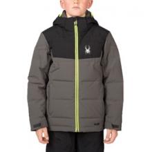 Clutch Down Ski Jacket Boys', Black/Herringbone Polar/Red, 10 in O'Fallon, IL