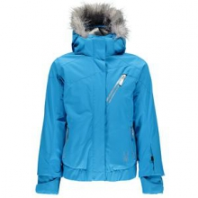 Lola Insulated Ski Jacket Girls', Riviera/Riviera/Silver, 8 by Spyder