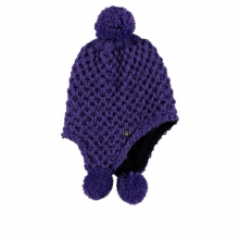 Girls Bitsy Brrr Berry Hat - Closeout Iris One Size