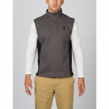 Mens Constant Sweater Vest - Closeout Polar/Black Medium by Spyder