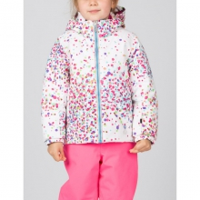 Girls Bitsy Glam Jacket - Closeout White Confetti Print/Wild 02 by Spyder