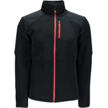 Linear Full-Zip Mid-Weight Core Sweater Jacket Men's, Black/Volcano, L by Spyder