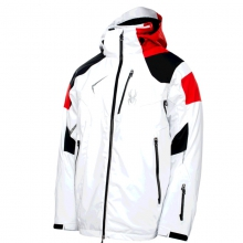 Mens Leader Jacket - Closeout White/Black/Volcano Large