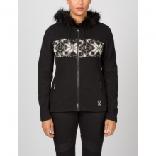 Womens Soiree Hoody W Faux Fur - Closeout Black/White/Image Gray