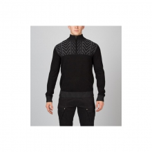 Mens Hylo Half Zip Sweater - Closeout Black Medium