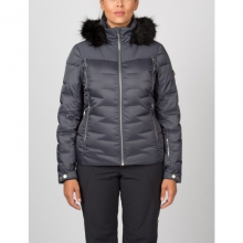 Womens Falline Real Fur Jacket - Closeout Black Denim 04