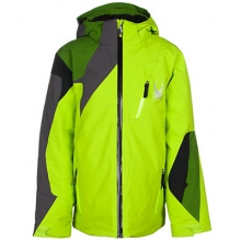 Avenger Insulated Ski Jacket Boys', Black/Electric Blue/Polar, 10 by Spyder