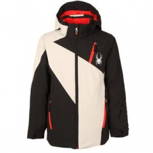 Enforcer Insulated Ski Jacket Boys', Black/Cirrus/Cirrus, 14