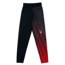 Sprinter T-Hot Baselayer Bottoms Boys', Black/Volcano, L/XL