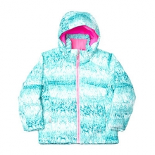 Bitsy Glam Insulated Ski Jacket Little Girls', Shatter Multiloop/Bryte Bubblegum, 2