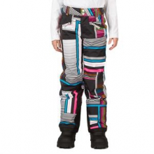 Vixen Athletic Fit Insulated Ski Pant Girls', Riviera Check Plaid Print, 18 by Spyder