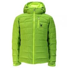 Impulse Down Ski Jacket Men's, Theory Green/Bryte Yellow/Bryte Yellow, S by Spyder