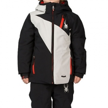 Mini Enforcer Insulated Ski Jacket Little Boys', Black/Cirrus/Cirrus, 4