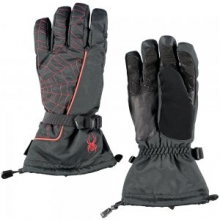 Overweb GORE-TEX Ski Glove Men's, Black/Volcano, S by Spyder