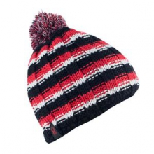 Bariloche Hat Boys', Black/Volcano/White, by Spyder