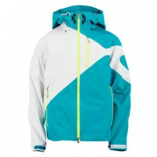 Eiger Shell Ski Jacket Men's, Tsunami/White/Neon Green, L