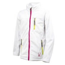 Caliper Fleece Jacket Girls', Black/Girlfriend/Sharp Lime, XL