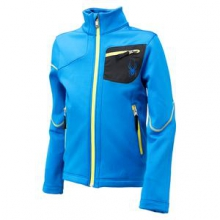 Acceler Fleece Jacket Boys', Stratos Blue/Black/Acid, XL