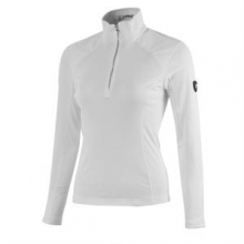 Lapis Therma Stretch Mid-Layer Top Women's, White, 16 by Spyder