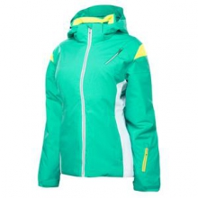Prevail Insulated Ski Jacket Women's, Robins Egg/White/Bryte Yellow, 10