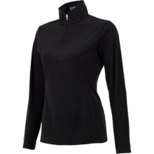 Shimmer Bug Velour Fleece Mid-Layer Top Women's, Black, 16