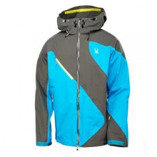 Eiger Shell Ski Jacket Men's, Osetra/Electric Blue/Acid, M