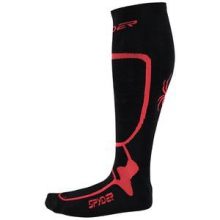 Pro Liner Ski Sock Men's, Black/Volcano, XL